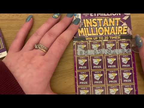 £5 Instant Millionaire Purple Scratch Card, UK Lottery, February 2020, Match 2 Symbols And Doubles