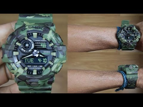 22b7c9523a5 CASIO G-SHOCK CAMOUFLAGE GA-700CM-3A - UNBOXING - YouTube