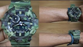 CASIO G-SHOCK CAMOUFLAGE GA-700CM-3A - UNBOXING