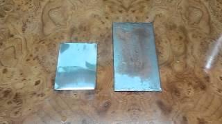 Как отличить нержавейку от обычной стали! How to distinguish from ordinary stainless steel!(Отличить нержавейку от обычной стали можно простым способом, нанести на оба метала раствор медного купорос..., 2015-02-23T15:22:28.000Z)