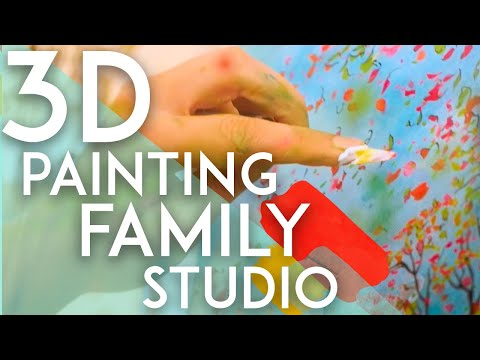 3d painting on glass by Jean-Pierre Weill - The Studio