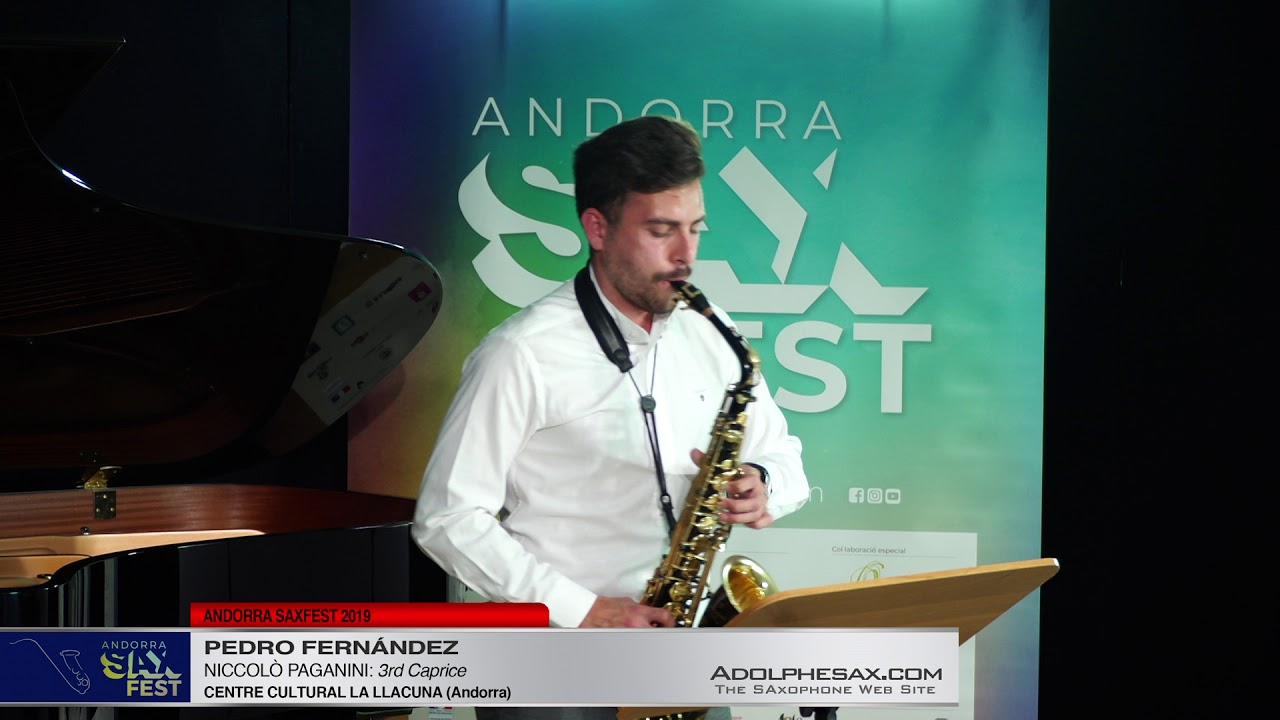 Andorra SaxFest 2019 1st Round   Pedro Fernandez   3rd Caprice by Niccolo Paganini