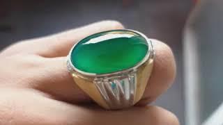 NATURAL BACAN DOKO GULAU - Ada Rough Bahan Batu Majiko Bluish Green Gulao Palamea Kristal Ijo Botol Cincau Permata Super