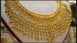 Bridal Gold Jewellery Short Necklaces  Choker  Designs Collection