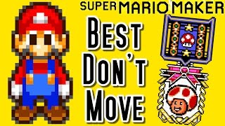 Super Mario Maker Top 12 DON'T MOVE Courses of the YEAR (Wii U)