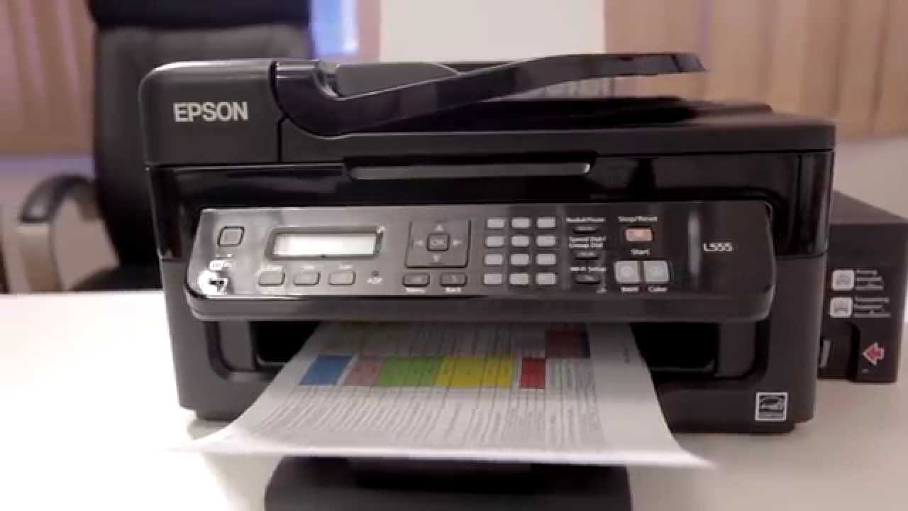 Epsonforsmes Epson L555 Ink Tank System Printer Youtube