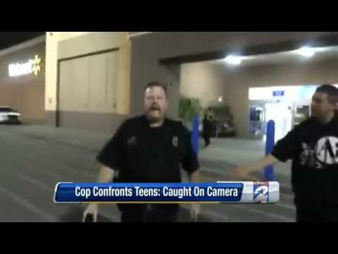 OFFDUTY POLICE OFFICER CAUGHT ON CAMERA THREATENING TEENS