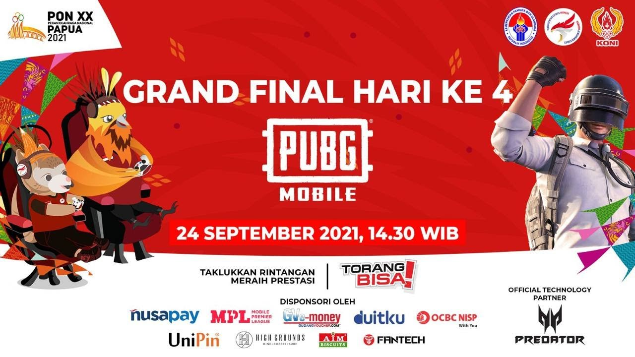 Download EKSIBISI ESPORTS PON XX PAPUA 2021 | Hari Keempat PUBG Mobile Grand Final