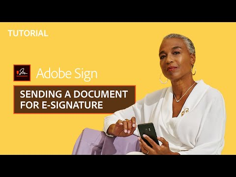 Adobe Sign – How to send a document for e-signature