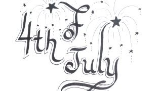 How To 4th Of July Drawings - Independence Day! Draw Fireworks