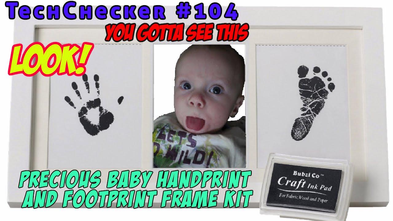 Techchecker 104 Bubzi Precious Baby Handprint And Footprint Frame
