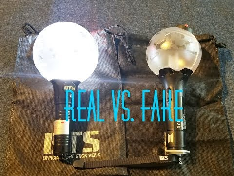 BTS Army Bomb Lightstick: Real Ver. 3 Vs Fake Ver. 1