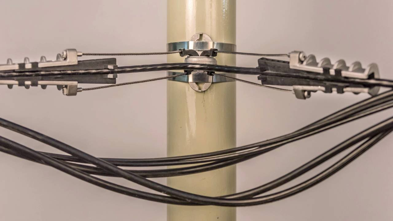 How to install Anchoring Clamps for Aerial Bundled Cables - YouTube