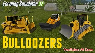 farming simulator 17 mods more bulldozers liebherr 634 caterpillar d7r d6n lgp