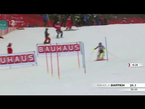 Mikaela Shiffrin 1 Run Slalom ARE 2019