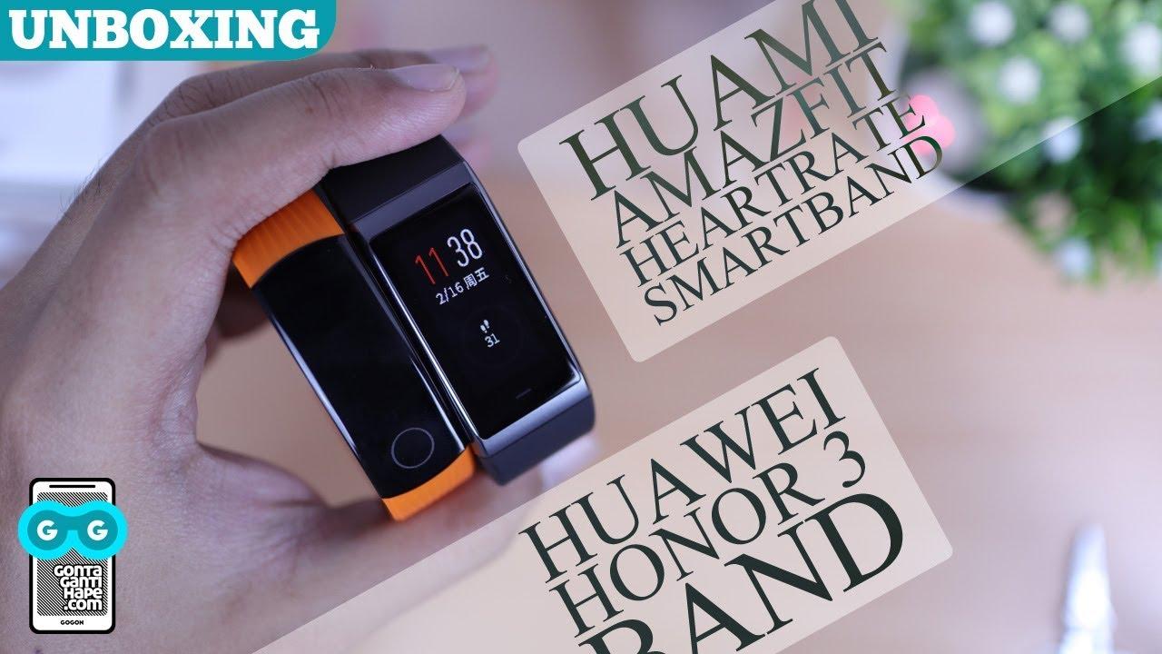 Unboxing Xiaomi Huami Amazfit Cor Heartrate Vs Huawei