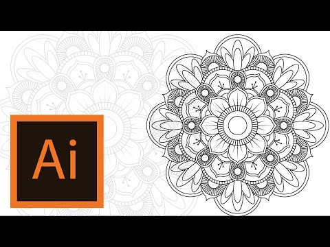 Tutorial Mandala -Illustrator //MANDALA ILLUSTRATOR #3//