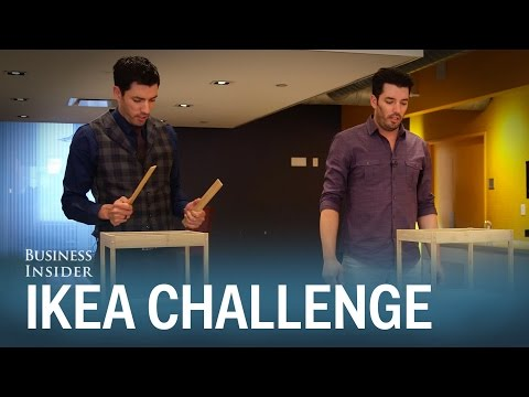 The 'Property Brothers' raced to see who could build IKEA furniture fastest — it wasn't pretty