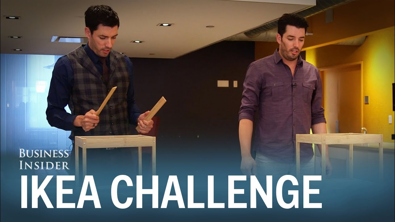 The Property Brothers raced to see who could build IKEA