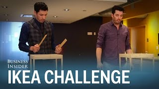 The Property Brothers raced to see who could build IKEA furniture fastest — it wasn t pretty