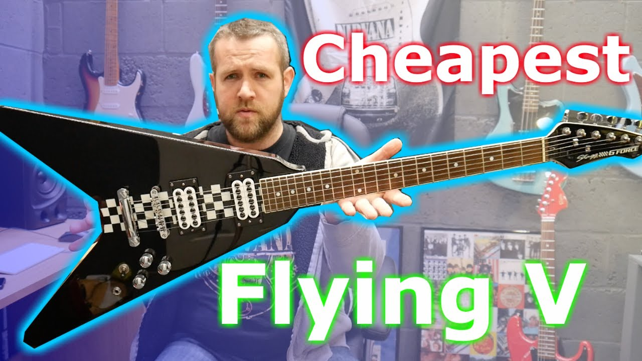 Electric Guitar Flying V Stagg G Force Metallic Orange RRP £249 Buy Now At £99