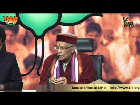 BJP Press Conference by Dr. Murli Manohar Joshi on the issue Sushilkumar Shinde statement