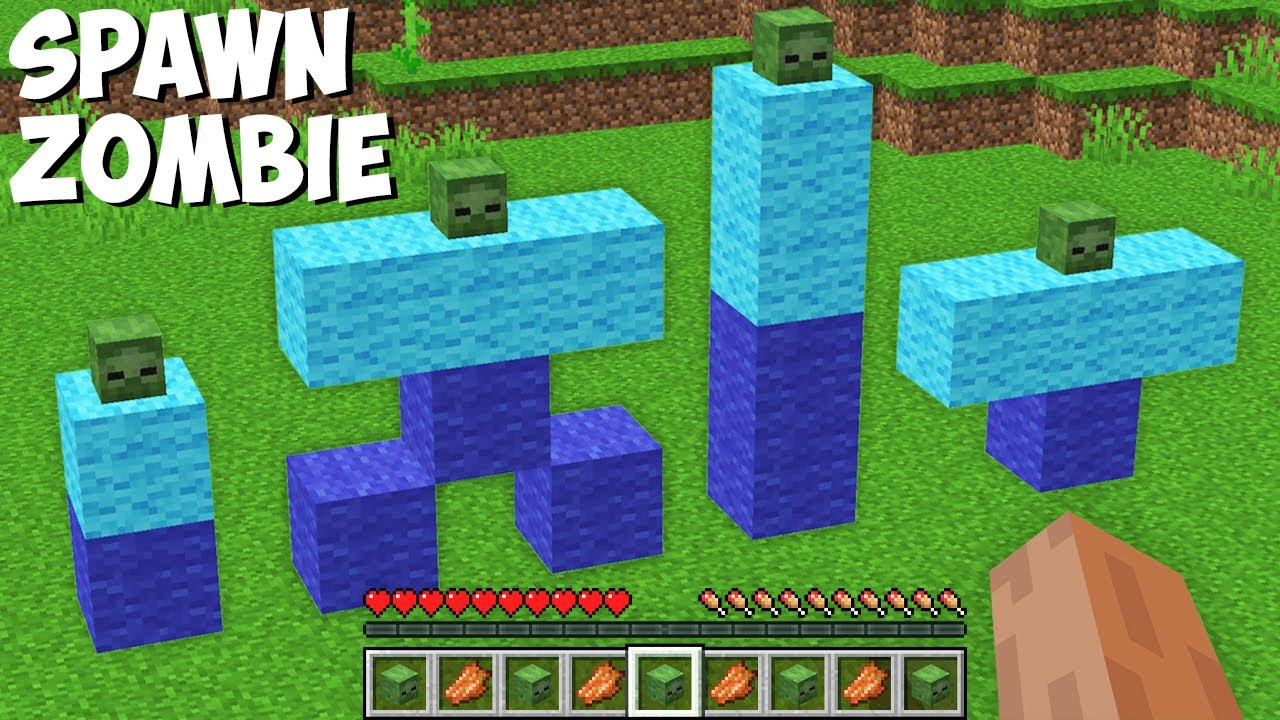 What is the BEST WAY TO SPAWN ZOMBIES in Minecraft ? HOW TO SUMMON BEST ZOMBIE !