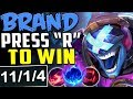 BRAND PRESS R TO WIN   HOW EASY IS THIS CHAMP?   New Runes Brand vs Yasuo MID Season 8 PBE Gameplay