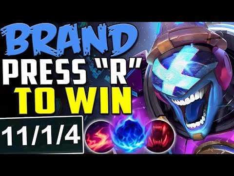 BRAND PRESS R TO WIN | HOW EASY IS THIS CHAMP? | New Runes Brand vs Yasuo MID Season 8 PBE Gameplay