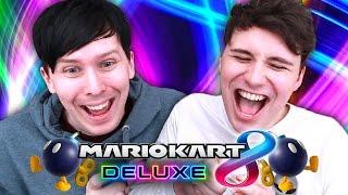 Mario Kart 8 Deluxe BATTLE MODE SHOWDOWN!!! - Dan vs. Phil