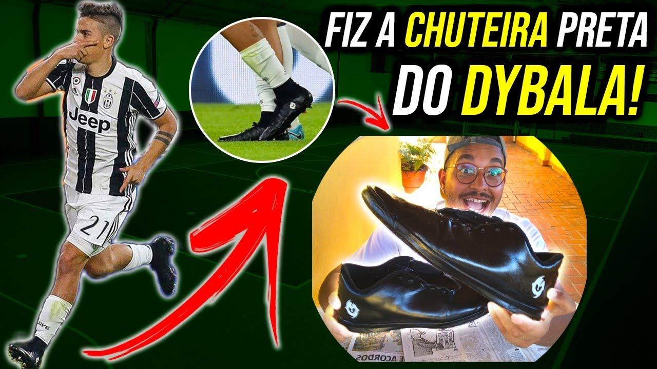 COMO FAZER CHUTEIRA DO DYBALA ESTILO BLACKOUT? (CHUTEIRA PRETA NO FUTSAL) | CHUTEIRAS 2019