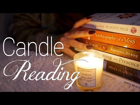 😌 Reading by Candlelight   ASMR   Books, Pages, Soft Speaking 😌