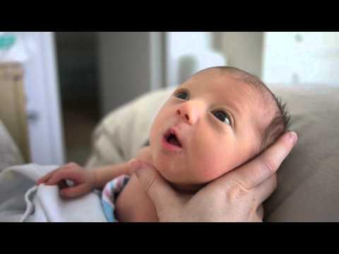 Newborn hiccups - YouTube