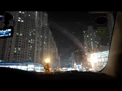 Driving in Shanghai at NIGHT