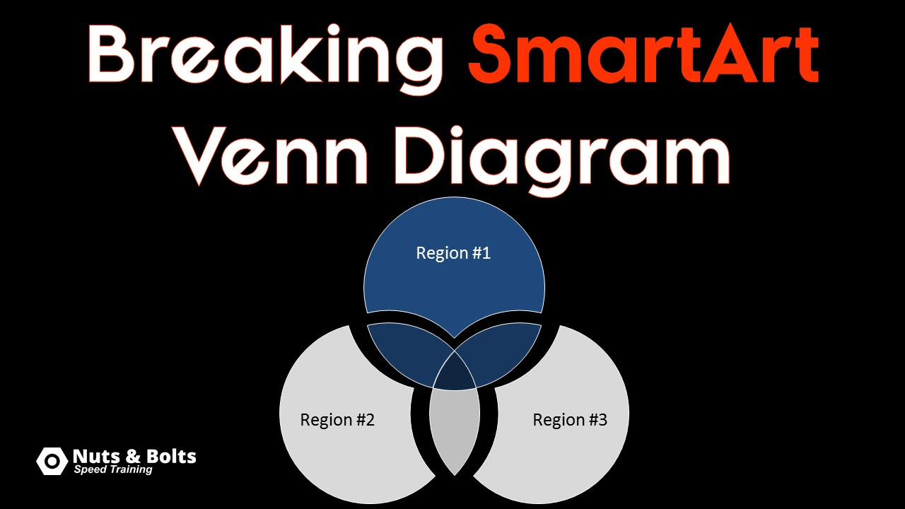 How to create a venn diagram in powerpoint using smartart youtube ccuart Image collections