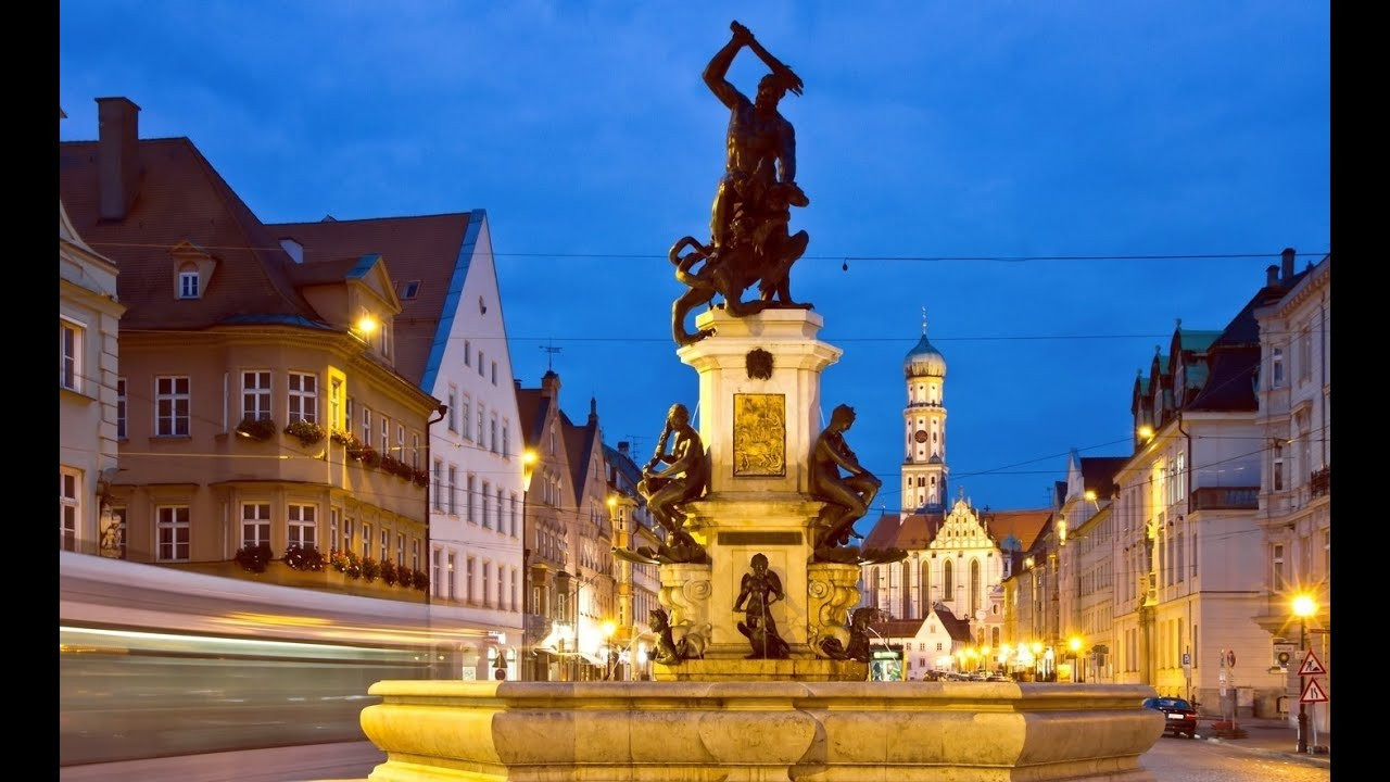 top tourist attractions in augsburg travel guide bavaria germany youtube. Black Bedroom Furniture Sets. Home Design Ideas