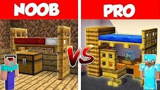 Minecraft NOOB vs PRO: el Secreto de la Cama Batalla en Minecraft / Animación