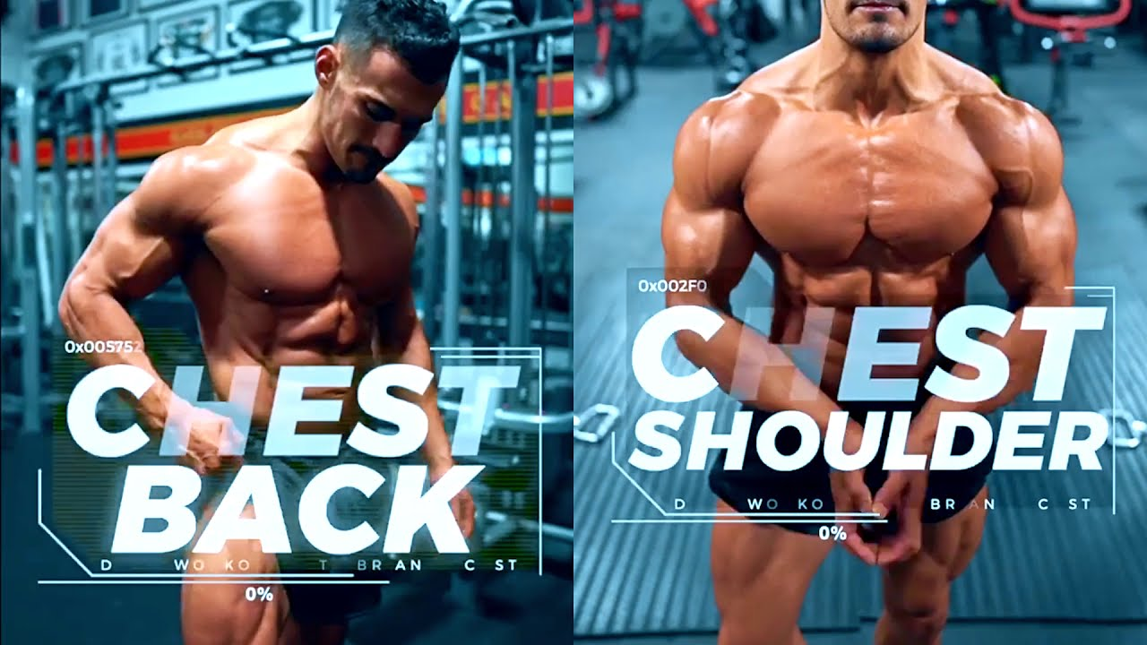Full CHEST/BACK/SHOULDERS Workout for Bodybuilders