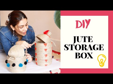 Twine Rope Basket DIY   3L Plastic Bottle Craft Ideas   Jute Storage Box 2020
