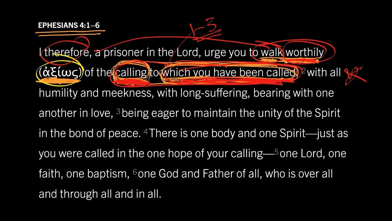 Ephesians 4:1–6 // Part 4 // What Is Worthy Walking?