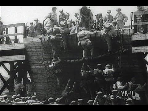 HD Historic Archival Stock Footage WWII - Marines Train To B