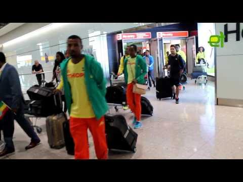 EthioTube Sport: Team Ethiopia arrives in London ahead of 2017 World Athletics Championships