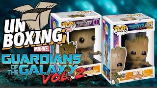 Baby Groot y Groot comparación de Pop #Unboxing