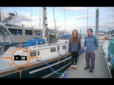 Couple's Fulltime Sailboat Life ~ Affordable Tiny House Living On The Water