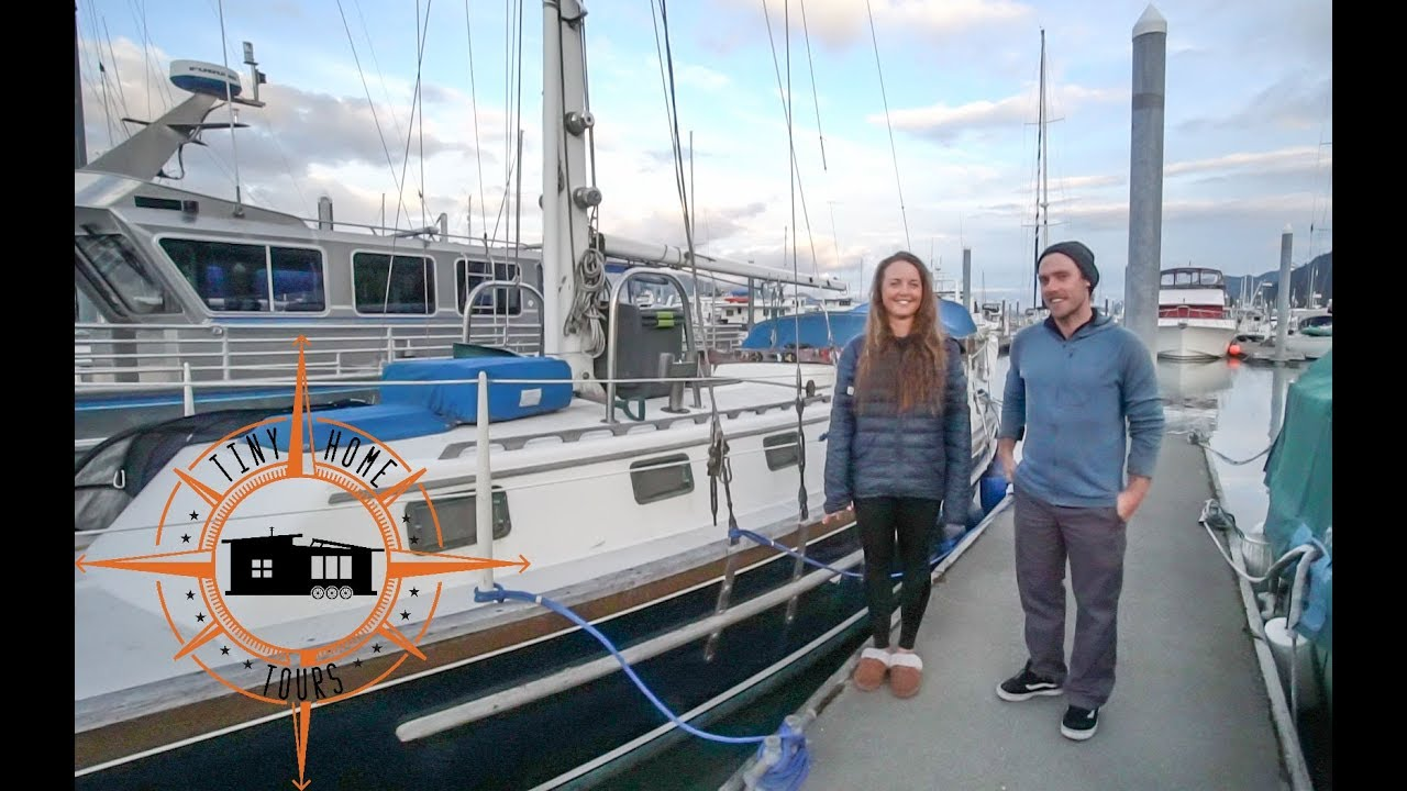 Couple's Fulltime Sailboat Life ~ Affordable Tiny House Living On The Water - YouTube