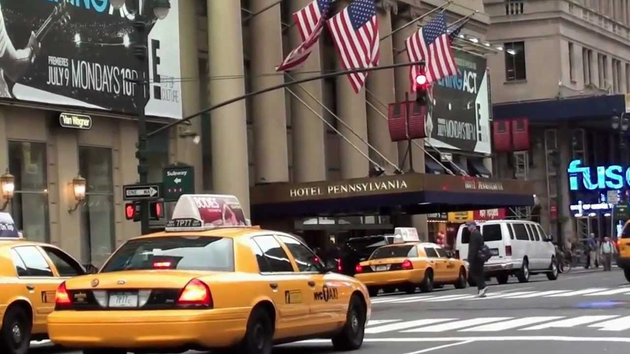New York, Manhattan, Hotel Pennsylvania, Penn Station, Madison Square Garden    YouTube Photo