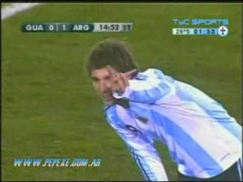 (2008) Argentina 5-0 Guatemala || 1 gol Gonzalo Higuain (relato AM CONTINENTAL)