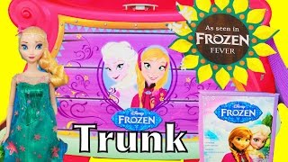 Frozen Fever Giant Surprise Trunk Disney Elsa Anna New Anna Birthday Movie Toys Surprise Videos