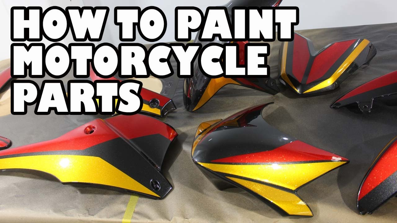 How to Spray Paint Motorcycle Parts  Speed T Project