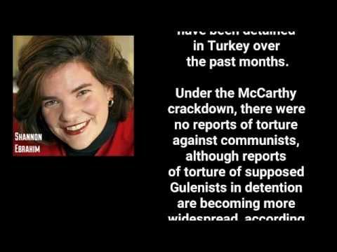 Shannon Ebrahim: 'Erdogan purge far worse than the McCarthy era' published on Sunday Independent